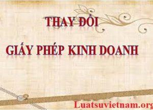 Tư vấn hồ sơ thủ tục Thay đổi giấy phép kinh doanh tại thành phố Hồ Chí Minh